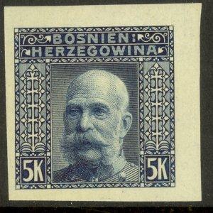 BOSNIA AND HERZEGOVINA 1906 5K FRANZ JOSEPH Imperf Sc 45b MLH