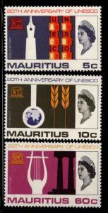 Mauritius Scott 299-301 MH* Unesco set