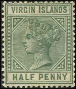Virgin Islands SC# 13 SG# 27 Victoria 1/2d VF wmk 2 MH