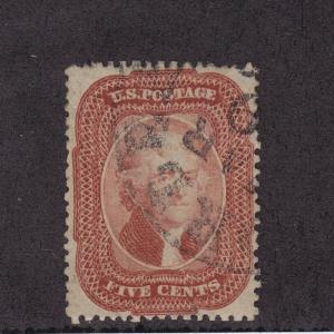27 Brick Red VF-XF used neat cancel w/cert nice color cv $ 1600 ! see pic !