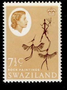 SWAZILAND QEII SG97, 7½c deep brown & buff, NH MINT.