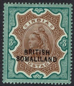 BRITISH SOMALILAND 1903 QV INDIA 3R OVERPRINT AT BOTTOM
