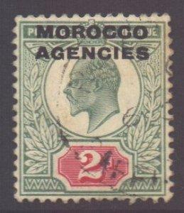 Morocco Scott 203 - SG33, 1907 British 2d used