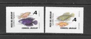 FISH - URUGUAY #1642-3  MNH