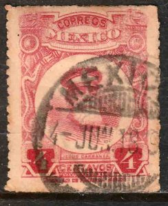 MEXICO 612, 4¢ ROULETTED, USED. F-VF. (333)