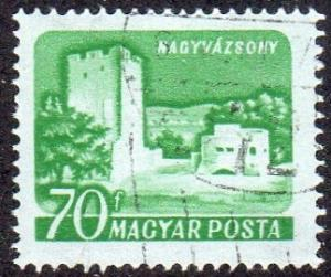 Hungary 1286a - Used - Nagyvazsony Castle (Tinted Paper)