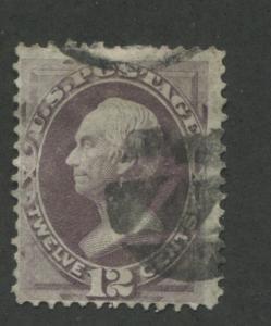 1870 US Stamp #151 12c Used Average Cork Cancel Catalogue Value $210