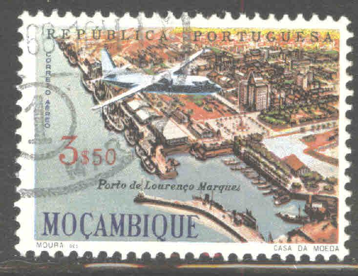 Mozambique Scott C31 Used airmail stamp