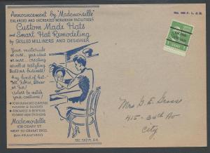 Prexie Precancel w/West Coast Hat Advert, 20th Century Is...