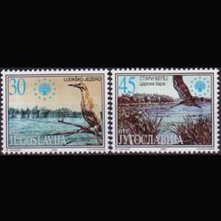 YUGOSLAVIA 2001 - Scott# 2525-6 Nature-Birds Set of 2 NH