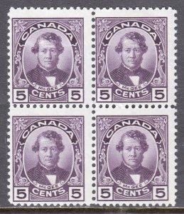 Canada - Scott #146 - Block/4 - MH/MNH - Hinged UL, others MNH - SCV $25.75