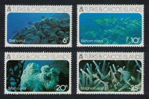 Turks and Caicos Island Corals 4v 1975 MNH SG#442-445