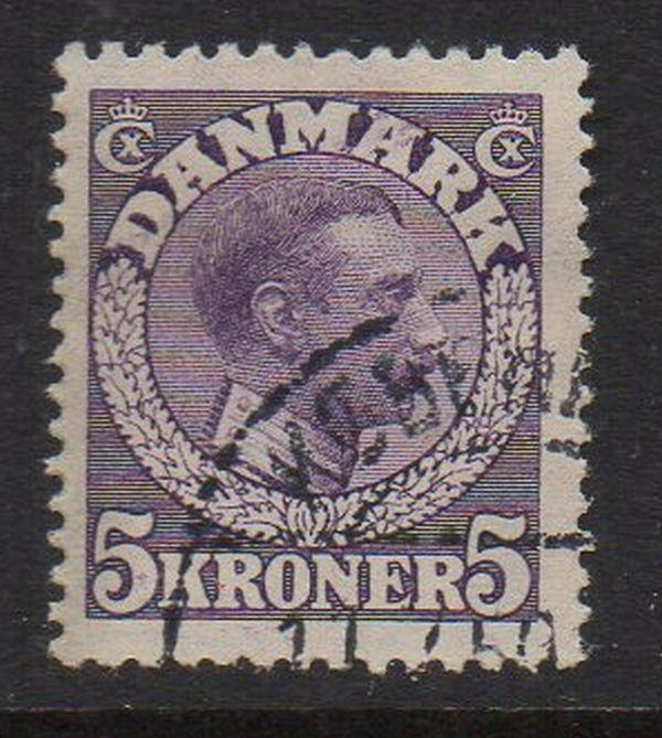 Denmark Sc 134 1920 5 K purple Christian X stamp used