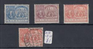 Netherlands 1907 Ruyter Set Plus MH SG211/213 J3345