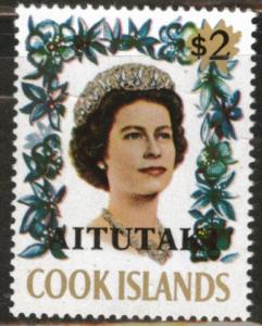 Aitutaki Cook Islands Scott 47 MNH** 1972 QE2 Key stamp