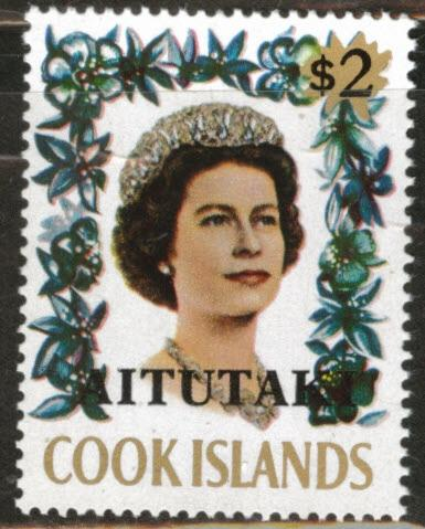 Aitutaki Cook Islands Scott 47 MNH** 1972 QE2 Key stamp