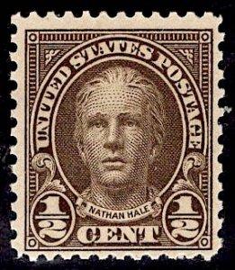 US Stamp #653 1/2c Hale MINT NH SCV $.35