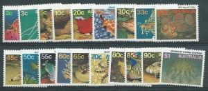 AUSTRALIA 1984-86 Marine Life definitive set MNH...........................40992