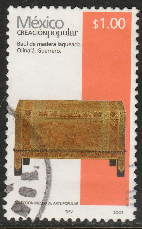 MEXICO 2489, $1P HANDCRAFTS 2005 ISSUE. USED. F-VF. (1502)