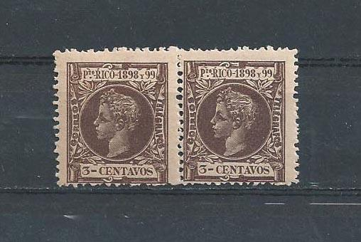 PUERTO RICO STAMPS MNH 1898 99 3 CENTAVOS PRC3