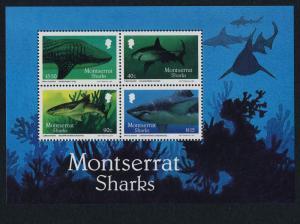 Montserrat 646a MNH Sharks, Marine Life