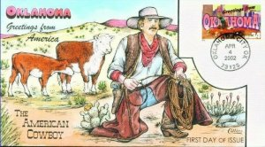 COLLINS HAND PAINTED 3596 GFA OKLAHOMA American Cowboy Cattle