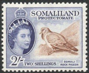 SOMALILAND-1953-58 2/- Brown & Bluish Violet Sg 146 MOUNTED MINT V42914