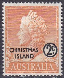 Christmas Island 1958 SG1 HM