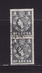 St Lucia 160 Pair U Queen Elizabeth II