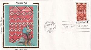 1986, Navajo Art, Colorano Silk, FDC (E12207)