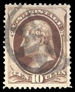 U.S. BANKNOTE CANCELS 161  Used (ID # 92129)