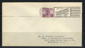 US 1933 Century in Progress Scott 729 FDC with DMT Add & Fancy Plane Cancel F