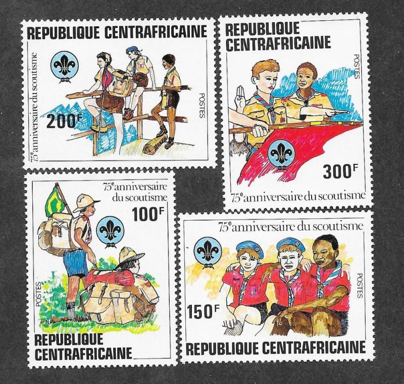 Central African Republic 497-500 Mint NH MNH Boy Scouts 75th!