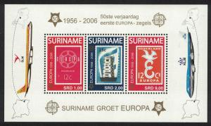 Suriname 50th Anniversary of Europa Stamps MS SG#MS2143