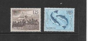 FISH - NORWAY #702-3 MNH