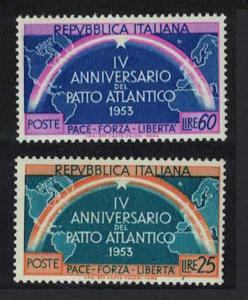 Italy 4th Anniversary of Atlantic Pact 2v SG#851-852