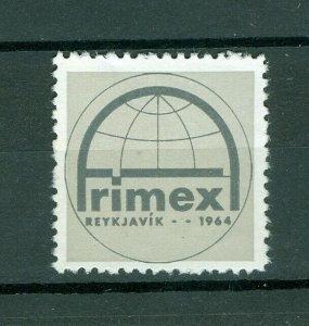 Iceland. Poster Stamp 1964. Frimex Reykjavik. Stamp Exhibition.