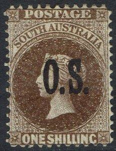 SOUTH AUSTRALIA 1891 QV OS 1/- TYPE 2 OVERPRINT