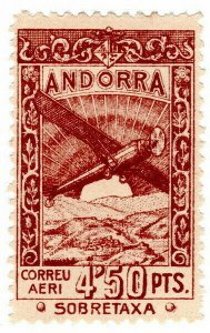 (I.B) Andorra Postal : Air Mail 4.50P
