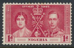 Nigeria  SG 46  SC# 50  MH Coronation 1937 please see scan