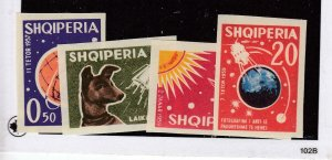 ALBANIA # 621-624 VF-MNH IMPERFS SPACE THEMED CAT VALUE $65+