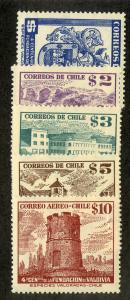 CHILE 269-272, C167 MNH SCV $4.05 BIN $2.50 MILITARY