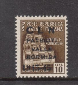 Italy Valle Bormida Sassone #8 Very Fine Never Hinged **With Certificate**