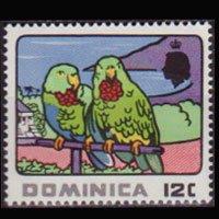 DOMINICA 1969 - Scott# 249 Parrots 12c NH