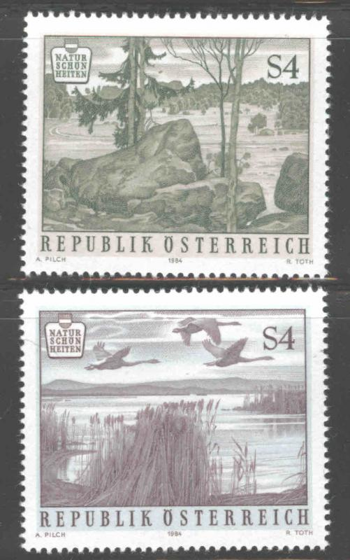 Austria Osterreich Scott 1283-1284 MNH** 1984  Nature Park set