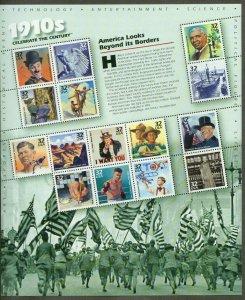 1998 sheet Celebrate the Century 1910s Sc# 3183