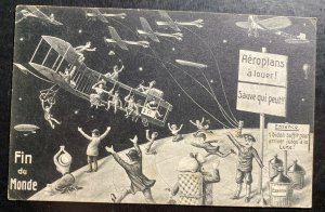 1910 Paris France Picture postcard Cover To Gand Belgium end of the world Souven