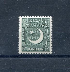 Pakistan 48, MNH, Grey Green 1949. x28442