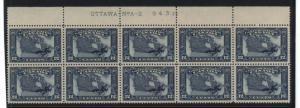 Canada #145 NH Mint Plate #2 Upper Block Of 10