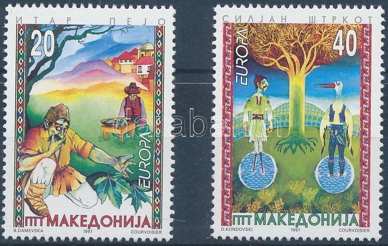 Makedonien stamp Europa CEPT sagas and legends set MNH 1997 Mi 102-103 WS173109